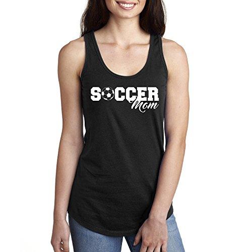 Soccer Mom Racerback Tank in Black - Small