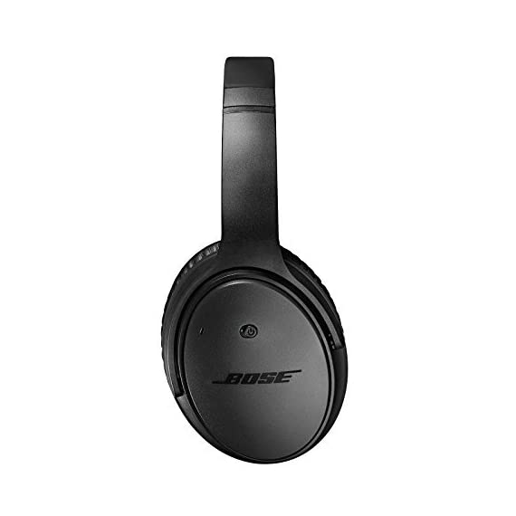 Bose QuietComfort 25 Headphones (wired, 3.5mm) 3 Blocks out the sounds you don't want to hear, so you can focus on the music you love. Bose Active EQ and TriPort technologies deliver crisp, clear, full-range sound with deep lows and soaring highs. Offers performance similar to Bose around-ear audio headphones when the battery runs out.
