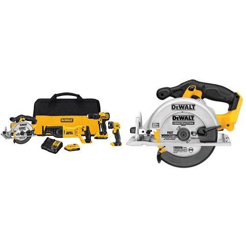 DEWALT DCK423D2 20V MAX 4-Tool Combo Kit and Circular Saw
