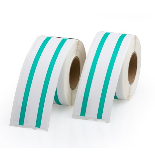 File Folder Labels 30327, Green Stripe 1 Roll Per Pack - Dymo Compatible 130 Labels Per Roll