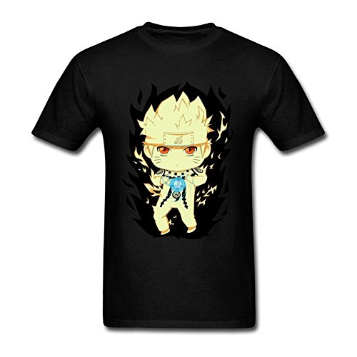JUDIAN Chibi Naruto Rikudou One Tail T Shirt Men