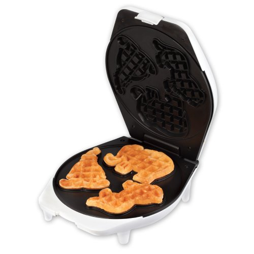 Smart Planet Circus Shape Waffle Maker Makes 3 Animal Shapes in Easy to Clean Non-stick Surface