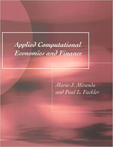 Applied Computational Economics and Finance (The MIT Press
