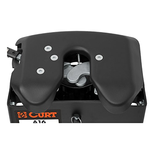 Curt Manufacturing 16675 A16 5th Wheel Hitch with Ford Puck System Roller for Short Bed Trucks (16,000 lbs. GTW) -