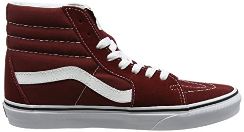 VansSk8-hi - Zapatillas altas adultos unisex Rojo (Madder Brown/true White)