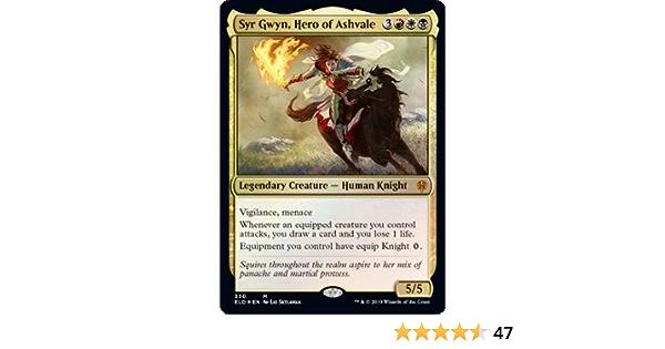 Mi Hero of Ashvale 1 x MTG Syr Gwyn Brawl Deck Card Foil Throne of Eldraine