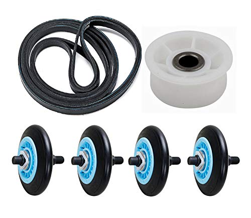 Dryer Roller Belt Idler Wheel Kit that works with Samsung DV48H7400EW/A2-0000 by Dryer Parts