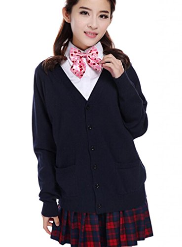 Lemail Wig Sweet Japanese Students School Uniforms Dark blue
