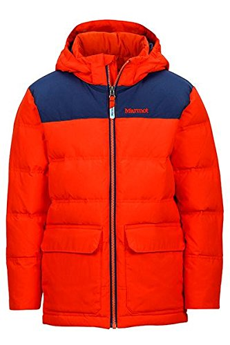 Marmot B Rail Jacket Mars Orange/ Arctic Navy Boys M by Marmot