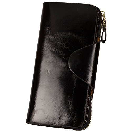 Zip Around Long Wallet (Black) - 5