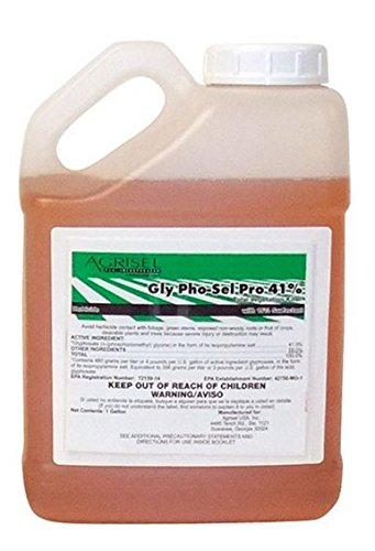 Agrisel USA Glyphosate Pro Herbicide 2.5 Gallon Jug (Best Pho In Dallas)