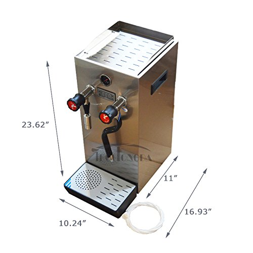 220V 10L Stainless Steel Milk Bubble Machine Steam Boiling Water Frothing Machine Milk Foam Machine