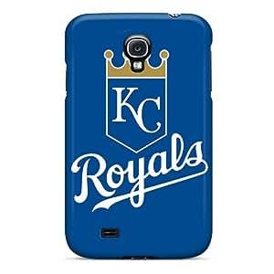 Samsung Galaxy S4 LOV10586KUCg Customized High-definition Baseball Kansas City Royals Skin Shock-Absorbing Hard Cell-phone Case -MansourMurray