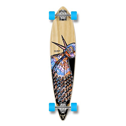 Yocaher The Bird Series: Natural Longboard Complete Skateboard - Available in All Shapes (Pintail) (Loaded Longboard Pintail)