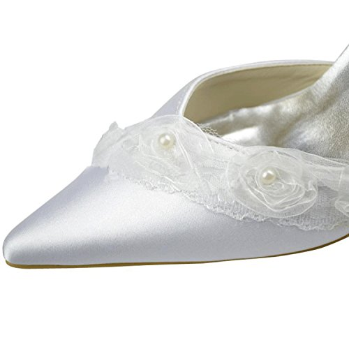 Minitoo , Damen Pumps White-7.5cm Heel