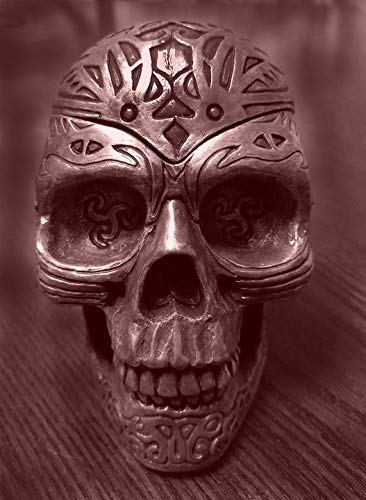 Home Comforts Peel-n-Stick Poster of Fear Halloween Decoration Spooky Grungy Skull Vivid Imagery Poster 24 x 16 Adhesive Sticker Poster Print]()