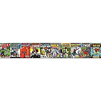 York Wallcoverings DY0274BD Disney Kids III Marvel Comic Book Covers Border, Reds