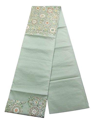便宜九月容量リサイクル 袋帯 刺繍 華文 金銀糸 正絹 お太鼓柄