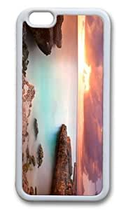 Adorable coral rock sunset Soft Case Protective Shell Cell Phone Cover For Case Iphone 5/5S Cover - PC White