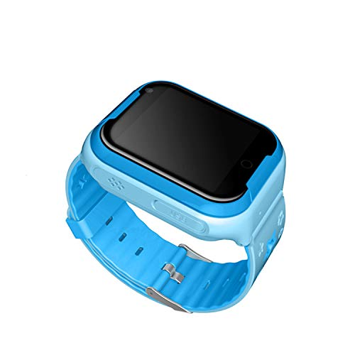 Waterproof Kids Smart Watch Phone Smartwatch GPS Tracker WiFi Location Boys Girls Cellphone SOS Anti-Lost Camera Pedometer Sport Digital Wrist Watch Blue 5.1x4.5x1.59cm/2.01x1.77x0.63