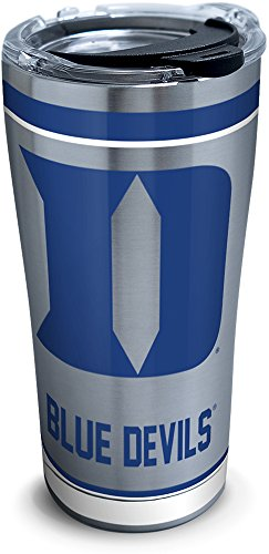 Tervis 1297967 NCAA Duke Blue Devils Tradition Stainless Steel Tumbler With Lid, 20 oz, Silver