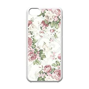 Retro Floral Series Unique Fashion Printing Phone Case for Iphone 5C,personalized cover case ygtg598689
