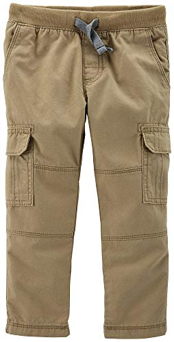 Carter's Toddler Boys Solid Reinforced Cargo Pants 4T Khaki