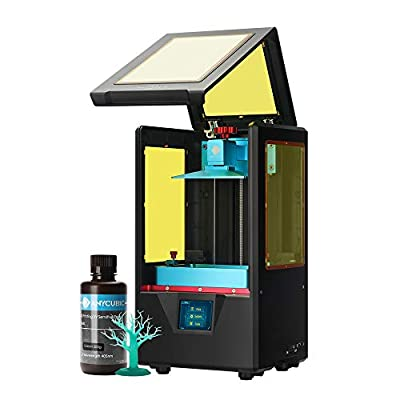 ANYCUBIC Photon S UV LCD 3D Printer Dual Z-axis Linear Rail with 2.8 inch Color Sensitive Touch Screen, Print Quietly and Off-line Print 9.1 x 7.9 x 15.8 inches Black Version