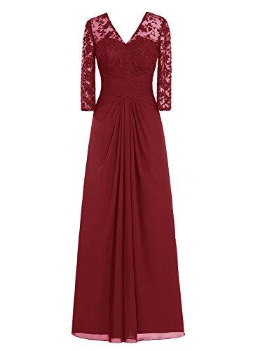 Jaune Col Dresstells 3 Mère Cérémonie Robe D'honneur Manches Demoiselle De V En 4 Mariée r0WqO0wfAR