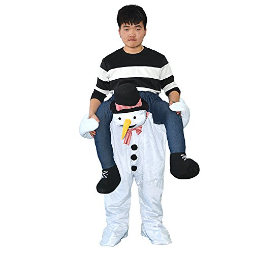 Piggyback Costumes Ride On Riding Shoulder Snowman Costume - Funny Costumes for (Piggyback Costume Snowman)