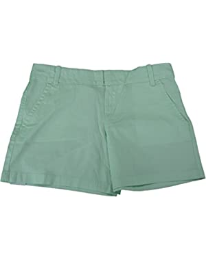 Calvin Klein Jeans Ladies Size 4 Short Casual Flat Front Shorts Ambrosia Green