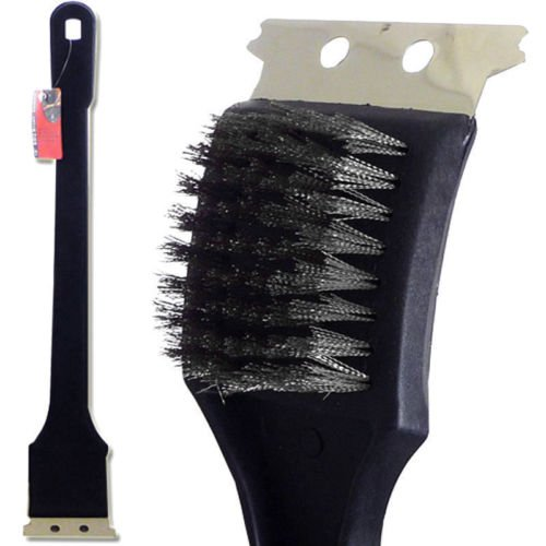18'' Long Handle Barbeque BBQ Grill Brush Bristles Quick Clean Scraper Tool STL by Syl Billionair