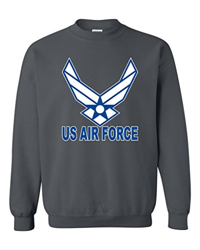 Artix US Air Force Blue Unisex Crewneck Sweatshirts Medium Dark - Crewneck Sweatshirt Air Force