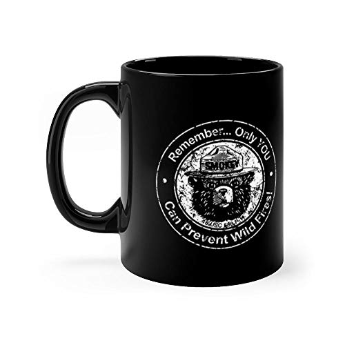 (Smokey Bear Only You Can Prevent 11 Oz Ceramic Glossy Mugs Gift For Coffee Lover Unique Coffee Mug, Coffee Cup. 11 Oz Ceramic)
