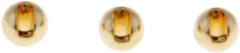 Homyl 25pcs Geschlitzt Wolfram Fliegen Binden Perlen Schnell Sinkende Nymph Kopf Perlen 2,4 mm