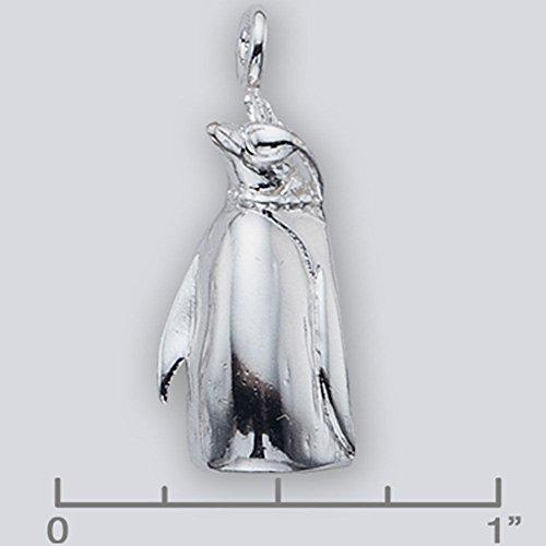 Sterling Silver Penguin Charm 10259 - Silver Jewelry Accessories Key Chain Bracelet Necklace Pendants