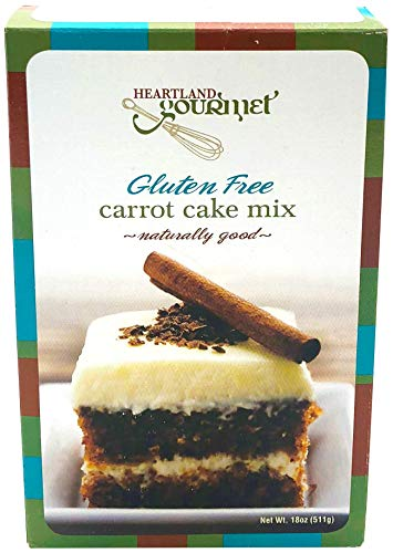 Heartland Gourmet: Gluten Free Carrot Cake Mix - Soft and Moist - Real Carrots - Certified Gluten Free Ingredients - All Purpose - Safe for Celiac Diet
