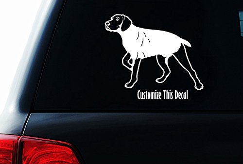 German Wirehair Pointer (Customize German Wirehair Pointer Dog , Car Laptop Dog Decal)