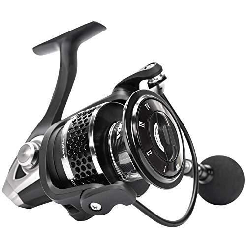 (Ecooda 2018 Blackhawk II High-Strengthen Alu Body Spinning Fishing Reels Left/Right Handle Salt/Fresh Water Boat Rock Bass Fishing 1500/2000/3000/4000/4500/5000 10BB+1RB Bearing 5.1:1 Gear Ratio)