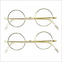 a2e6acc6f9e Amazon.com  Round Wire Rim Glasses Costume Accessory (2 Pack)  (0787421490633)  Books