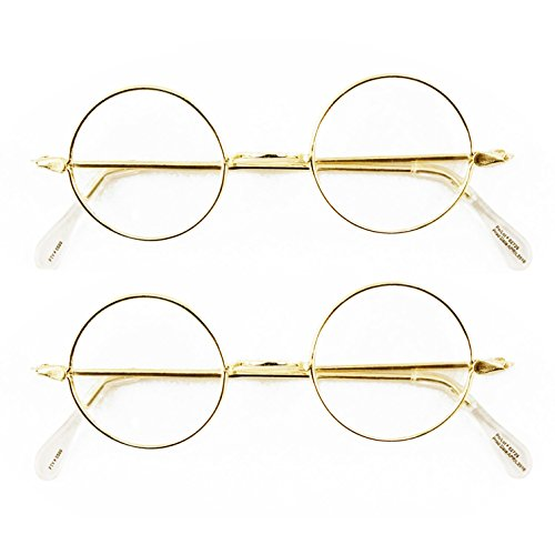 Round Wire Rim Glasses Costume Accessory (2 - Eyewear Costume