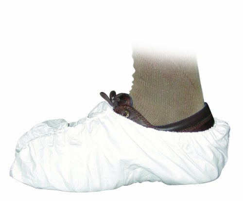 Groom Industries Disposable Shoe Covers, White, 100 Count (50 pairs)