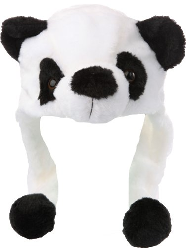 Amazon.com  Plush Animal Hat Costume Cap Cute Soft Faux Fur Stuffed Toy  Hood (White Panda)  Clothing 5d4def2dc987