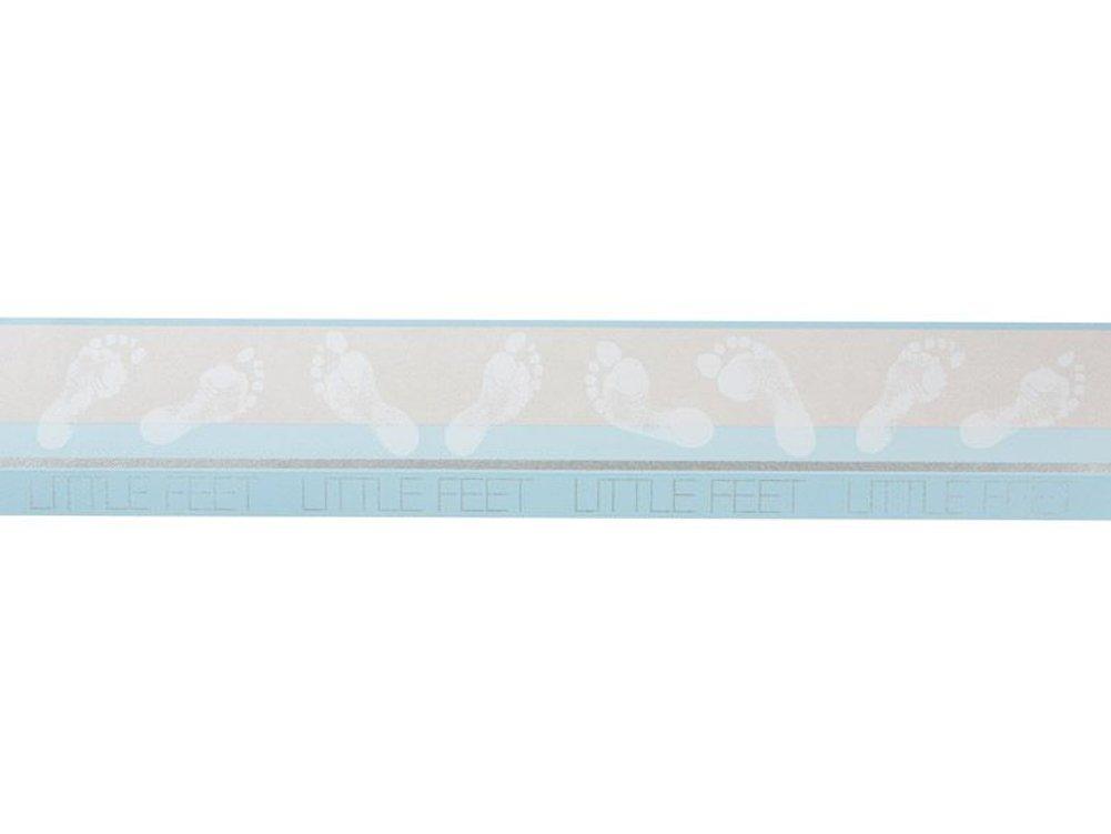 Selbstklebende Bordü re 5 m x 13 cm (hellblau) Baufix