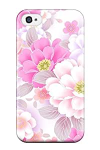 Renee Jo Pinson's Shop 4894573K66599287 First-class Case Cover For Iphone 4/4s Dual Protection Cover Flower S