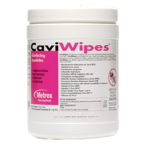 CaviWipes Metrex Disinfecting Towelettes Canister Wipes, 160 Count product image