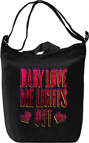 Baby Love My Lights Out Borsa Giornaliera Canvas Canvas Day Bag| 100% Premium Cotton Canvas| DTG Printing|