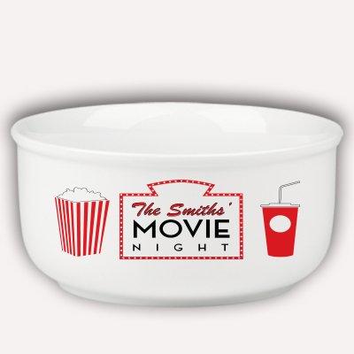 Personalized Family Name Movie Night Popcorn Bowl -