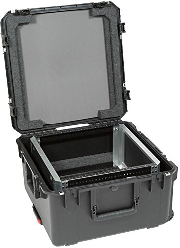 SKB 3I-22221210U I Series Waterproof Case with Removable 10U Shallow Rack Cage, TSA Locks, Wheels by SKB