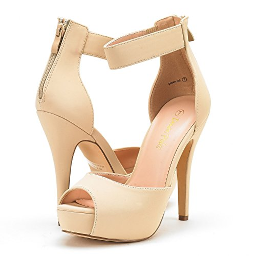 Swan Heel Dress Women's Shoes Nude Plaform DREAM Pump Nubuck PAIRS High axFqAZA